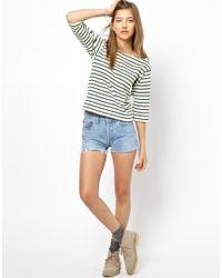 M.i.h Jeans - White The Breton Tee - Lyst