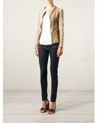 Giorgio Brato - Natural Perforated Leather Jacket - Lyst