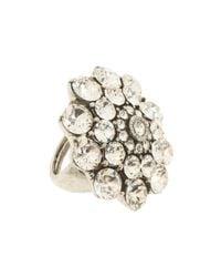 Oscar de la Renta | Metallic Crystal Ring | Lyst