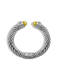 David Yurman - Yellow Cable Classics Bracelet with Lemon Citrine and Diamonds - Lyst