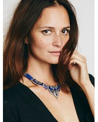 Free People | Blue Karen London Womens Moon Shadow Necklace | Lyst