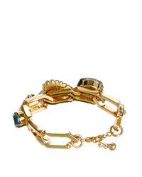 ASOS - Metallic Rainbow Jewel Link Bracelet - Lyst
