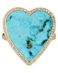 Jennifer Meyer | Blue Women's Heart Ring | Lyst