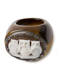 Amedeo - Brown Three Owls Ring - Lyst