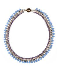 Tataborello | Plum Blue Beaded Choker Necklace | Lyst