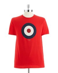 Ben Sherman | Red Target Graphic T-shirt for Men | Lyst