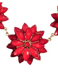 H&M | Red Necklace With Floral Pendants | Lyst