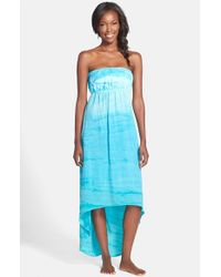 Hard Tail | Blue Strapless High/Low Dress | Lyst