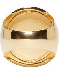 Versus - Metallic Gold Lion Crest Ring - Lyst