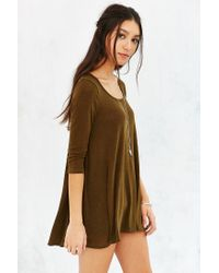 Project Social T | Green Wilshire Tunic Top | Lyst