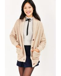 BDG - White Bridgette Shawl Collar Cardigan - Lyst