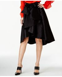 Cece by Cynthia Steffe | Black Bow-front High-low Skirt | Lyst