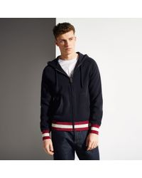 Bally | Blue Zipped Sweater for Men | Lyst