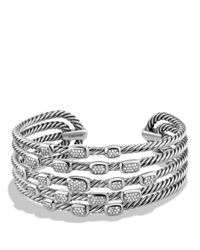 David Yurman | Metallic Confetti Wide Cuff Bracelet With Diamonds | Lyst
