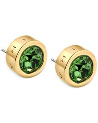 T Tahari | Green Gold-Tone Peridot Crystal Stud Earrings | Lyst