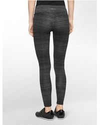 Calvin Klein | Black White Label Performance Striped Print Leggings | Lyst