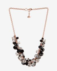 Ted Baker - Pink Cluster Bead Necklace - Lyst