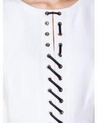 Altuzarra - White Lace-Up Detail Dress - Lyst