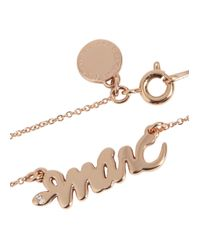 Marc By Marc Jacobs - Metallic Rose Gold Tone Snake Logo Necklace - Lyst