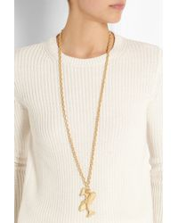 Valentino - Metallic Pisces Gold-tone Necklace - Lyst