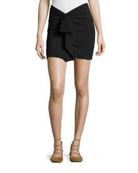 Isabel Marant - Black Ruffled Linen-stretch Jersey Mini Skirt - Lyst