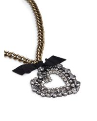 Lanvin | Black Kristin Necklace | Lyst
