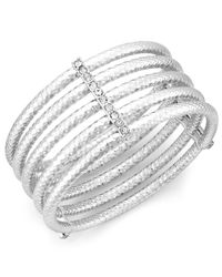 INC International Concepts | Metallic Silver-tone Crystal Multi-row Stretch Bracelet | Lyst