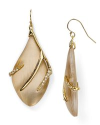 Alexis Bittar - Natural Lucite Crystal Embellished Sabre Wire Earrings - Lyst