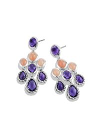 David Yurman - Metallic Chandelier Earrings with Amethyst and Guava Quartz - Lyst