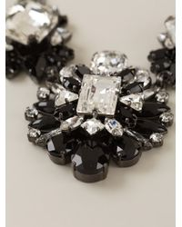 Marina Fossati - Black Crystal Embellished Necklace - Lyst