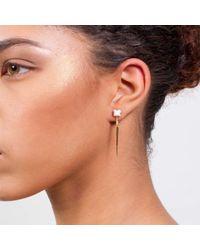 Dutch Basics - Metallic Porcelain Point Earrings White - Lyst