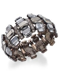 INC International Concepts | Metallic Chocolate-tone Crystal Stone Stretch Bracelet | Lyst
