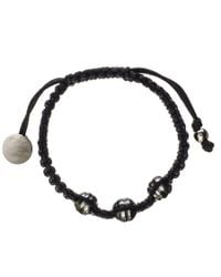 Black.co.uk - Callisto Tahitian Black Pearl And Macrame Bracelet - Lyst