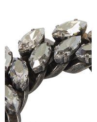 Lanvin | Metallic Crystal Embellished Bracelet | Lyst