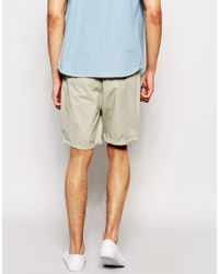 ASOS - Gray Chino Shorts In Mid Length for Men - Lyst