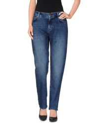 M.i.h Jeans - Blue Denim Trousers - Lyst