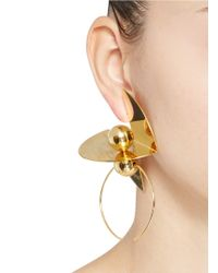 Toga - Metallic 'Symbolic' Ball Hoop Brass Plate Earrings - Lyst