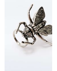Cheap Monday | Metallic Fly Hinge Ring In Silver | Lyst