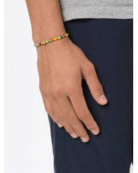 Luis Morais | Blue Horse Shoe Spacer Beaded Bracelet | Lyst