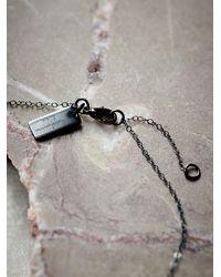 Free People - Metallic Pave Diamond Crescent Choker - Lyst