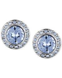 Givenchy | Blue Pavé Button Stud Earrings | Lyst