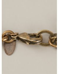 Lanvin - Metallic 'Love' Crystal Brass Necklace - Lyst