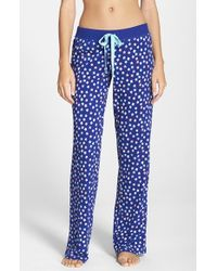 Cozy Zoe | Blue Print Lounge/sleep Pants | Lyst