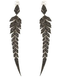 Stephen Webster | Black 'magnipheasant' Diamond Earrings | Lyst