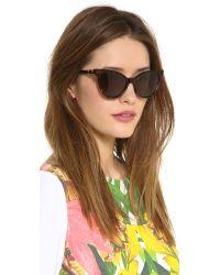 Wildfox - Brown Le Femme Sunglasses - Tokyo Tortoise/G15 Sun - Lyst