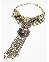 Free People | Metallic Anja Statement Collar | Lyst