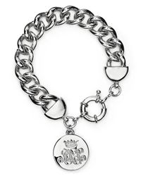 Lauren by Ralph Lauren - Metallic Logo Charm Curb Chain Bracelet - Lyst