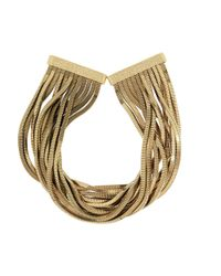 Rosantica | Metallic Schiava Gold-Tone Necklace | Lyst