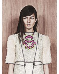 Kirsty Ward | Purple Lavender & Green Statement Necklace | Lyst
