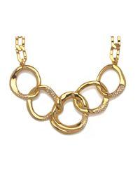 Sequin   Metallic Interlocking Gold Chain Necklace   Lyst